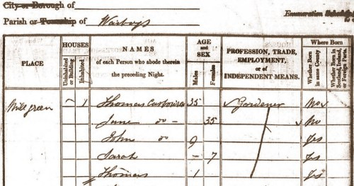 Thomas Casbourn b1806 1841 census Warboys
