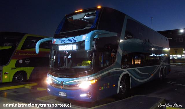 Transantin   Santiago   Marcopolo Paradiso 1800 DD - Volvo / FWXW38