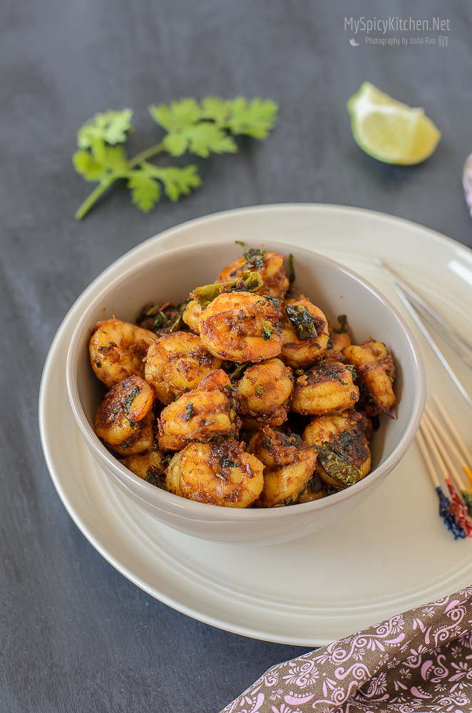 Blogging Marathon, Cooking Carnival, Protein Rich Food, Cooking With Protein Rich Ingredients, Cooking With Shrimp, Shrimp Recipes, Seafood, Prawns, Chili garlic methi shrimp stir fry, Prawns Stir Fry, Methi Chili Garlic Shrimp,
