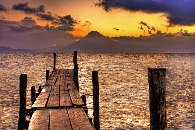 Panajachel GCA - Lago de Atitlan at dusk 02