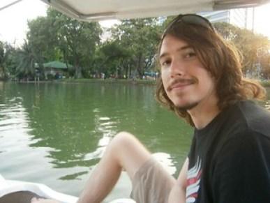 Kyle paddling