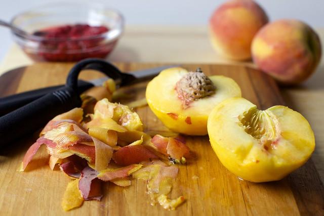 overripe peaches are perfect here