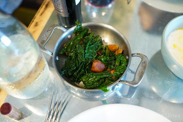 sauteed mushrooms & kale