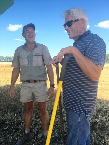 Farmer Randy and Peter joking around.