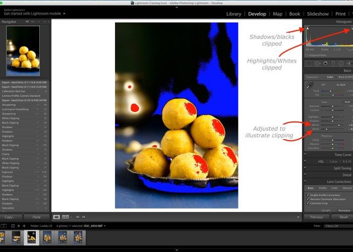 Clipping, Lightroom Tutorial for Food photos, Lightroom tutorial, Editing RAW files in Lightroom,  Lightroom Food Tutorial, How to edit food photos in Lightroom,