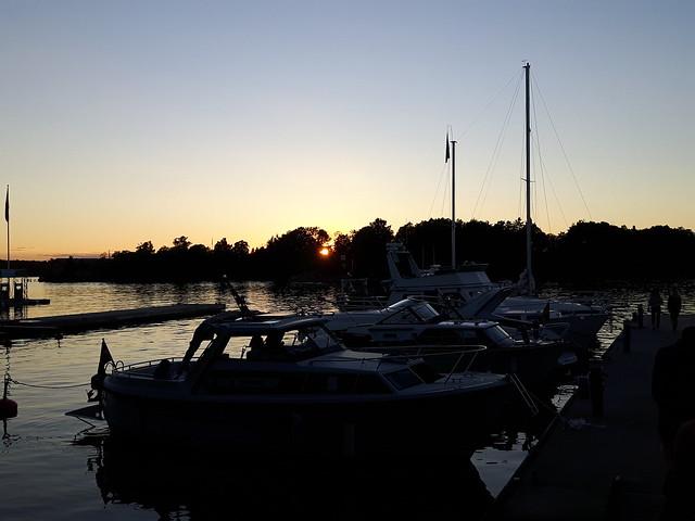Zonsondergang Fjäderholmarna -archipel