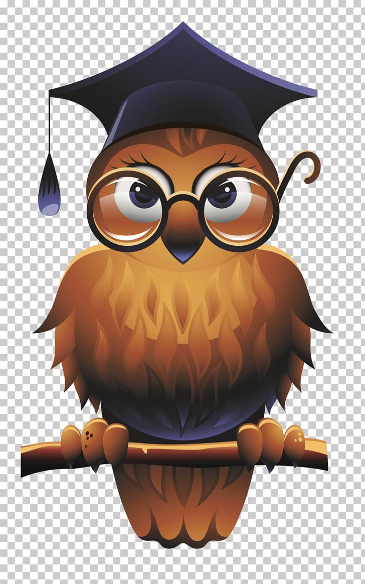 medium resolution of owl square academic cap school teacher wise man brown owl illustration png clipart