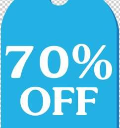 blue discount tag 70 off png clipart [ 728 x 1187 Pixel ]