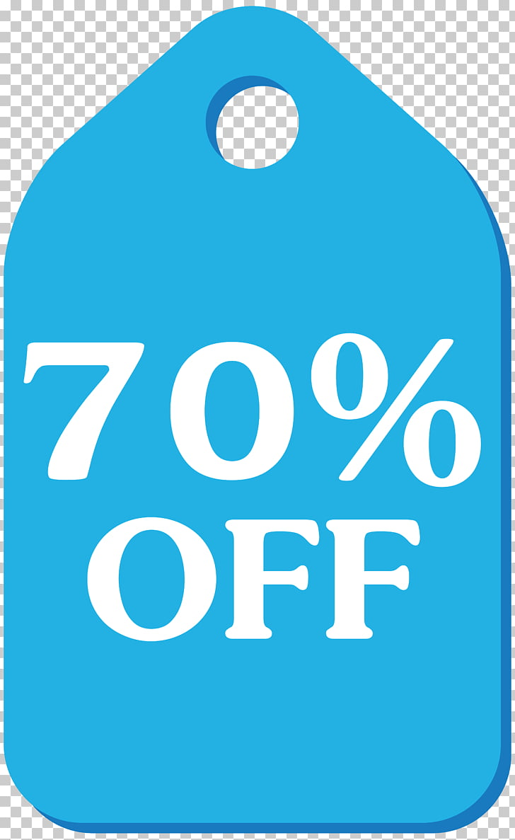 hight resolution of blue discount tag 70 off png clipart