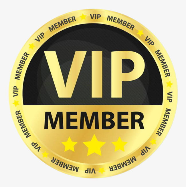 43 vip badge png