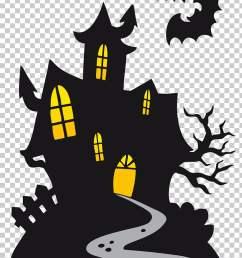 halloween cartoon ghost haunted castle black vampire castle png clipart [ 728 x 1086 Pixel ]