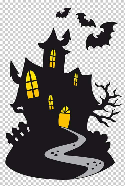 small resolution of halloween cartoon ghost haunted castle black vampire castle png clipart