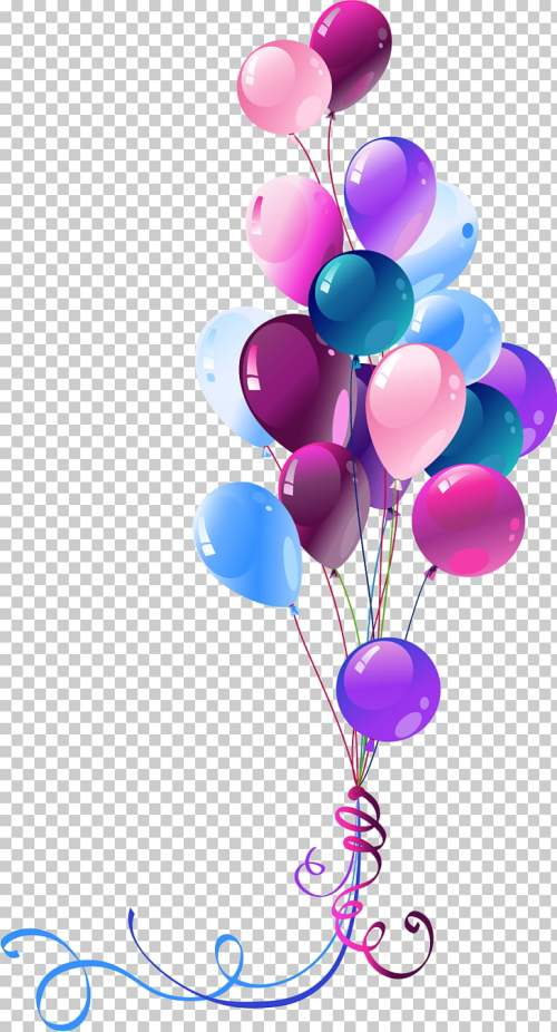 small resolution of happy birthday to you balloon ballons assorted color party balloons png clipart