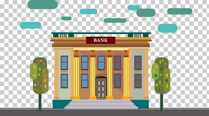 Online Banking Architecture Drawing A Bank Multicolored Bank Building Illustration Png Clipart Free Cliparts Uihere