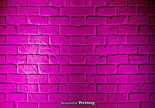 vector pink grunge brick