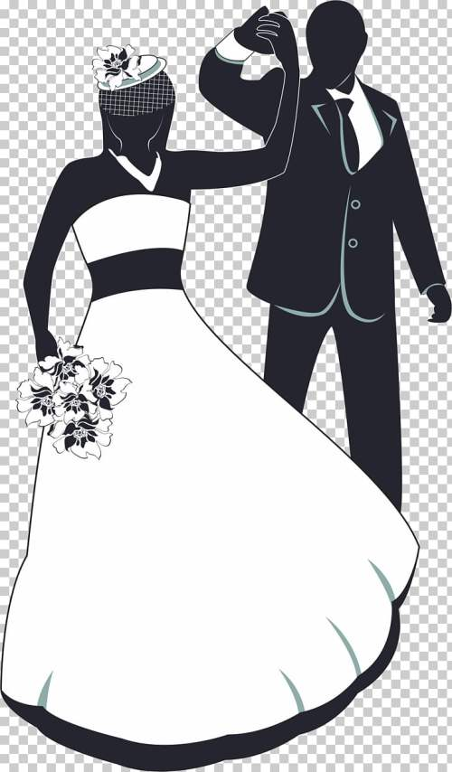 small resolution of wedding invitation the bride and groom dancing png clipart