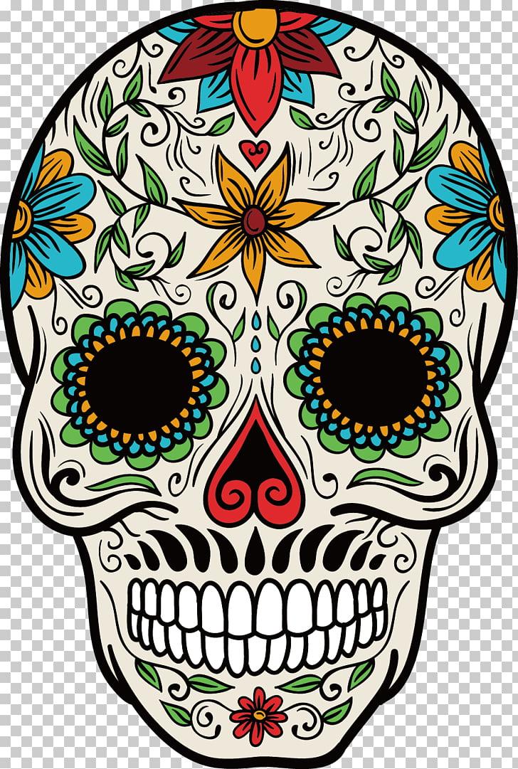 medium resolution of la calavera catrina mexican cuisine mexico day of the dead color hand painted skull