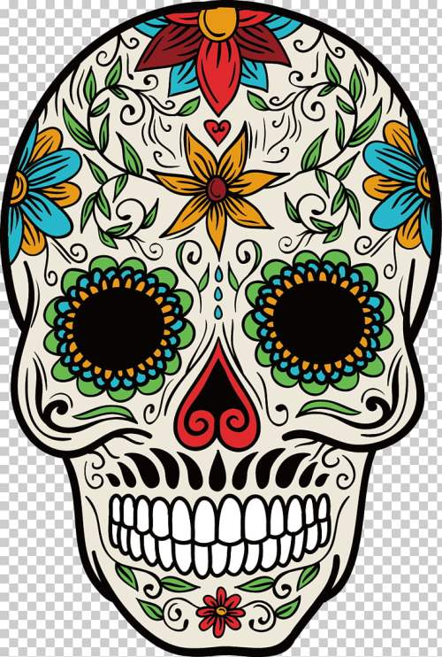 small resolution of la calavera catrina mexican cuisine mexico day of the dead color hand painted skull
