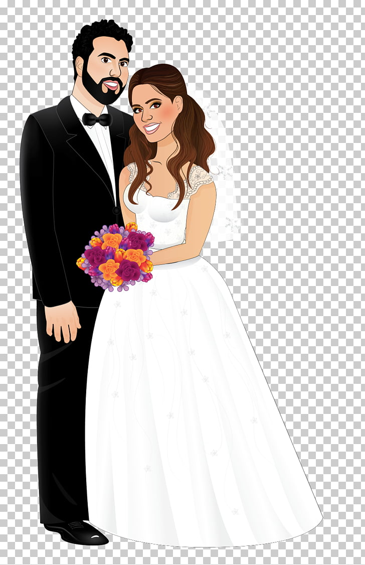 hight resolution of wedding invitation marriage bride wedding dress bride and groom groom and bride illustration png