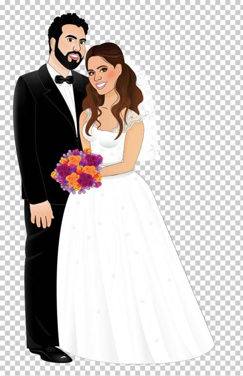 small resolution of wedding invitation marriage bride wedding dress bride and groom groom and bride illustration png