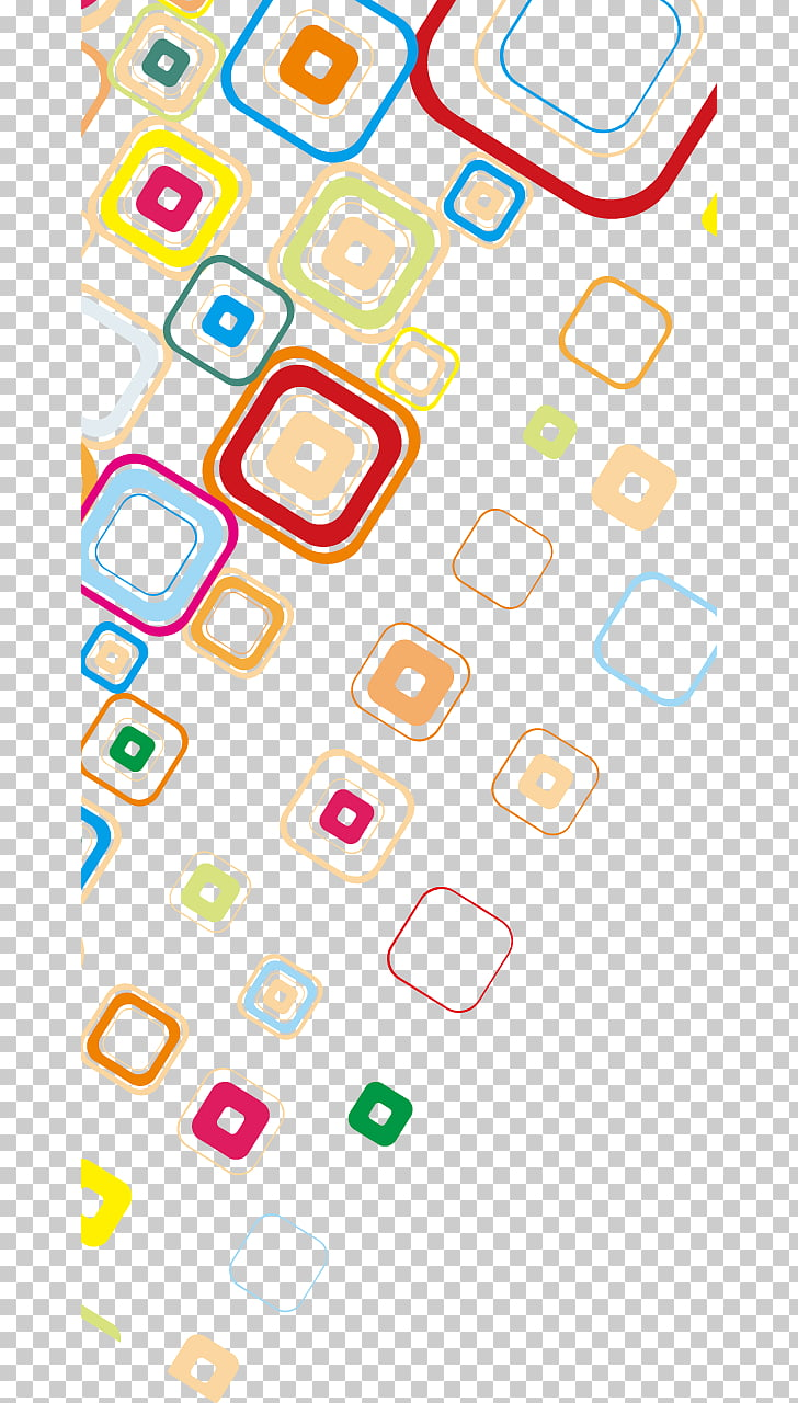 hight resolution of creative business card circle color shading assorted color squares illustration png clipart