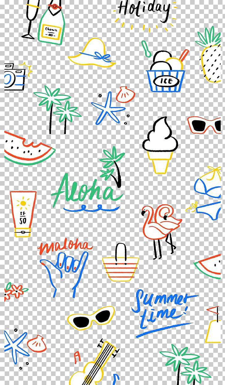 Cartoon Seaside Vacation Background Hand Drawing Png Clipart Free Cliparts Uihere
