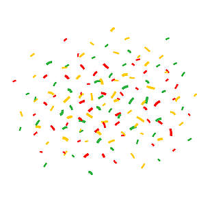 birthday confetti celebration vector
