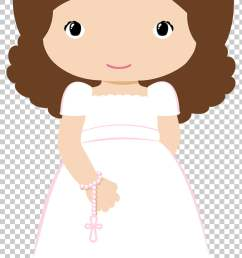 first communion baptism christening girl illustration png clipart [ 728 x 1408 Pixel ]