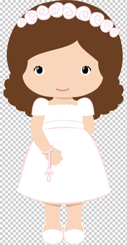 small resolution of first communion baptism christening girl illustration png clipart