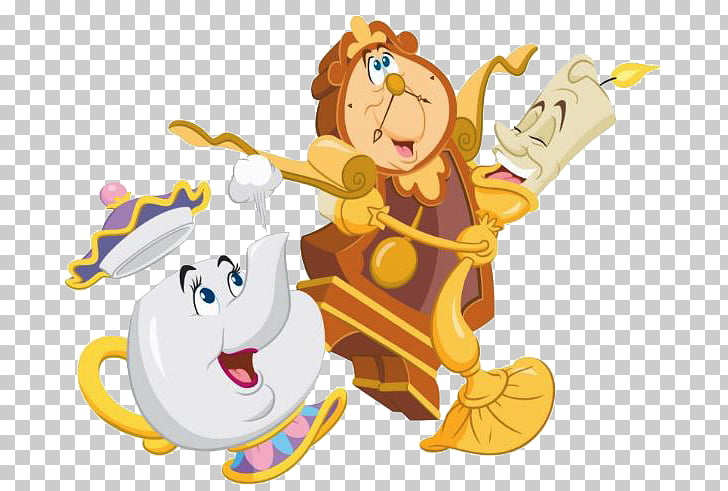 Belle Beast Cogsworth Lumiere Mrs Potts Chip Beauty Png Clipart Free Cliparts Uihere