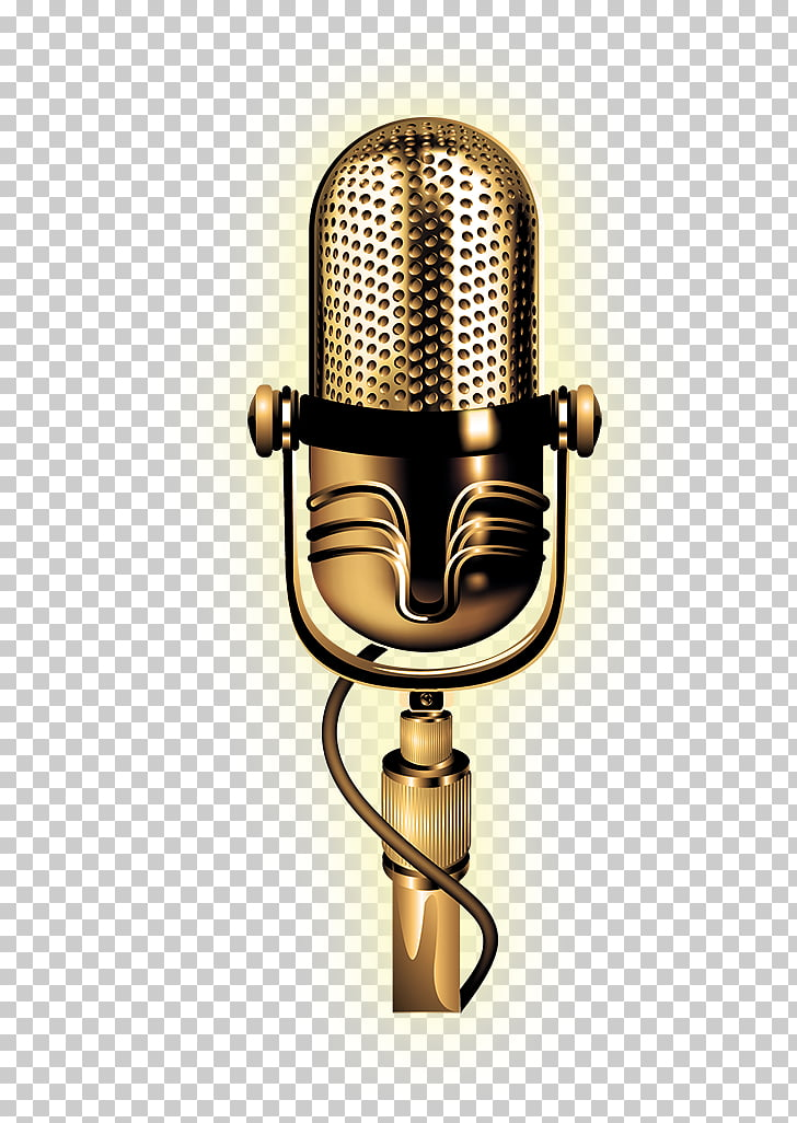 microphone golden microphone silver