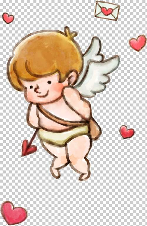 small resolution of cupid valentines day love little angel png clipart