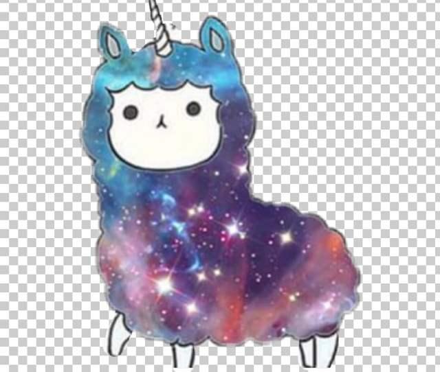 Llama Kawaii Alpaca Cuteness Galaxy Unicorn Png Clipart