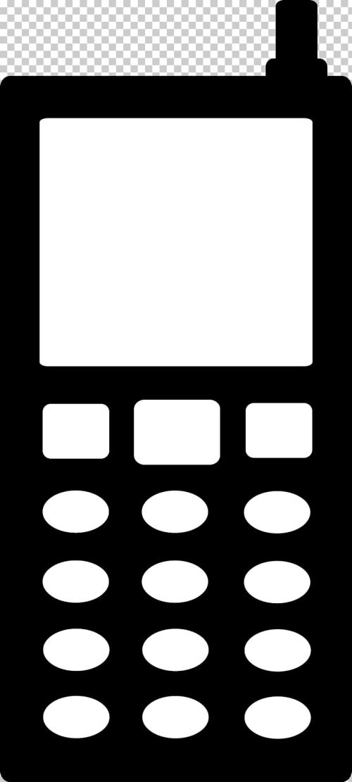 small resolution of telephone silhouette no cell phone png clipart