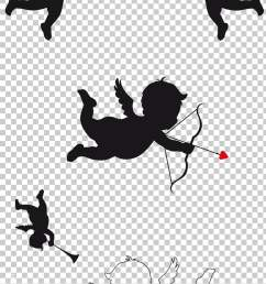 cupid and psyche silhouette cupid png clipart [ 728 x 1356 Pixel ]