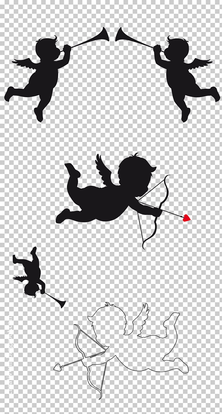 hight resolution of cupid and psyche silhouette cupid png clipart