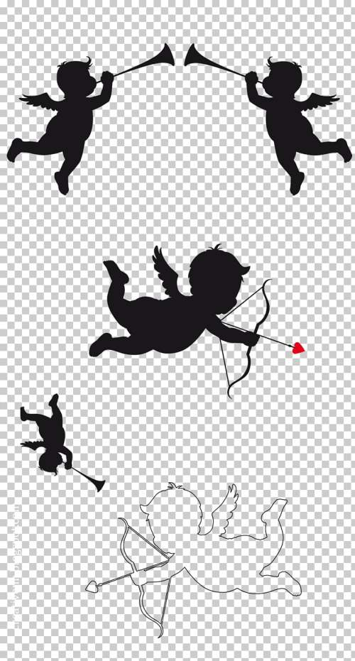 small resolution of cupid and psyche silhouette cupid png clipart