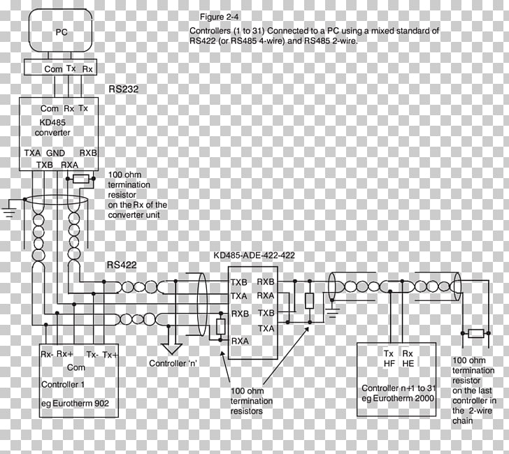 rs 485 wire diagram