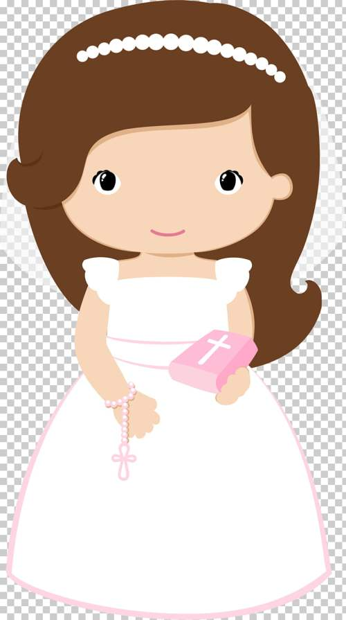 small resolution of first communion baptism eucharist baptism brown haired bride illustration png clipart