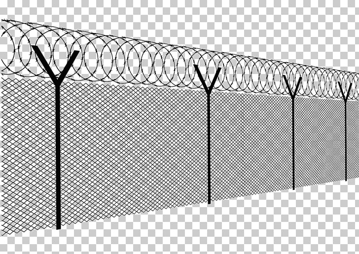 barbed wire fence chain