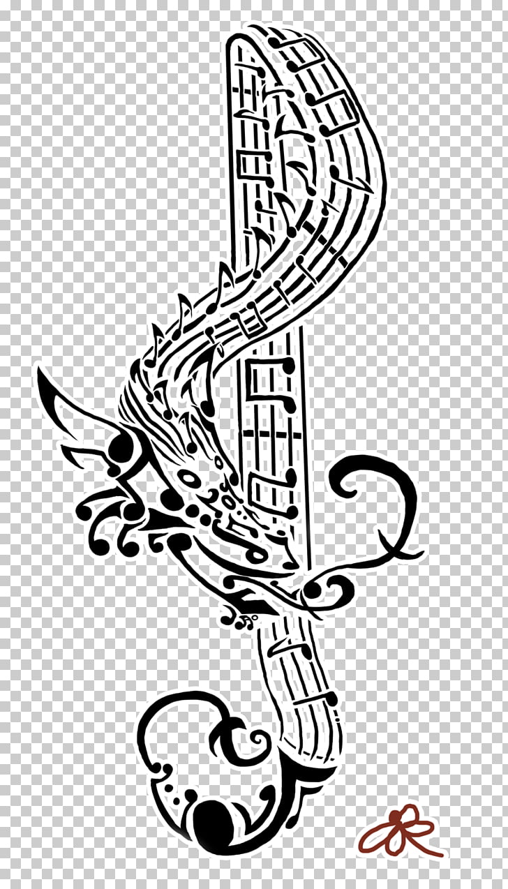 hight resolution of tattoo musical note art flash treble clef png clipart