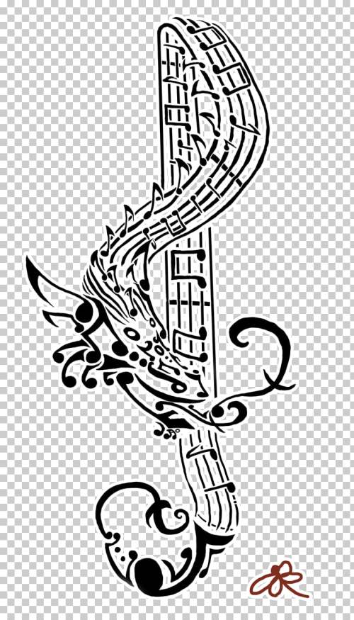 small resolution of tattoo musical note art flash treble clef png clipart