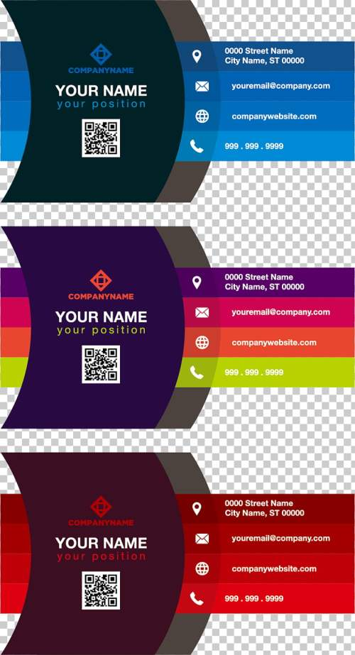 small resolution of business card color adobe illustrator gradient color business card three assorted color illustrations