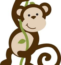 baby monkeys safari monkey free brown primate hanging on vines png clipart [ 728 x 1125 Pixel ]