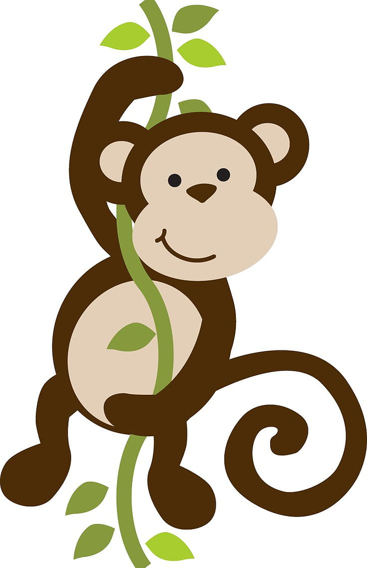 hight resolution of baby monkeys safari monkey free brown primate hanging on vines png clipart