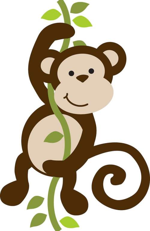 small resolution of baby monkeys safari monkey free brown primate hanging on vines png clipart