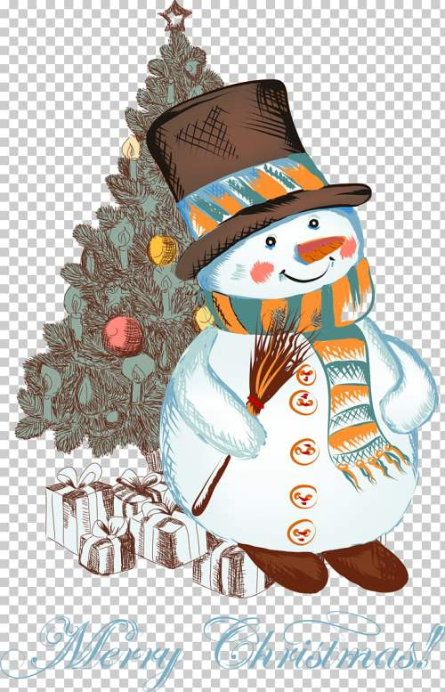 small resolution of christmas snowman christmas cartoon snowman snowman and christmas tree illustration png clipart