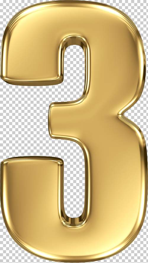 small resolution of gold number 3 number 3 logo png clipart