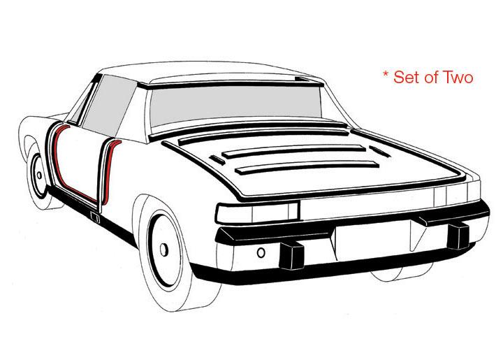 Porsche 914 1970-76 Weatherstripping Body Parts