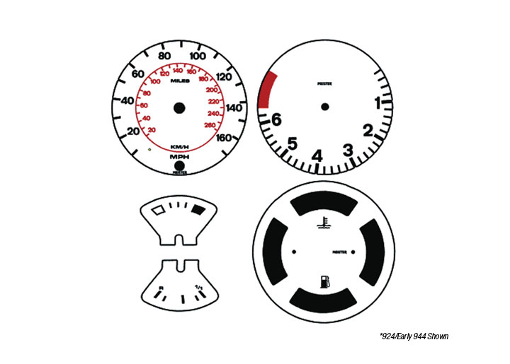 Porsche 924 1980-85 FACTORY AND REPLACEMENT GAUGES